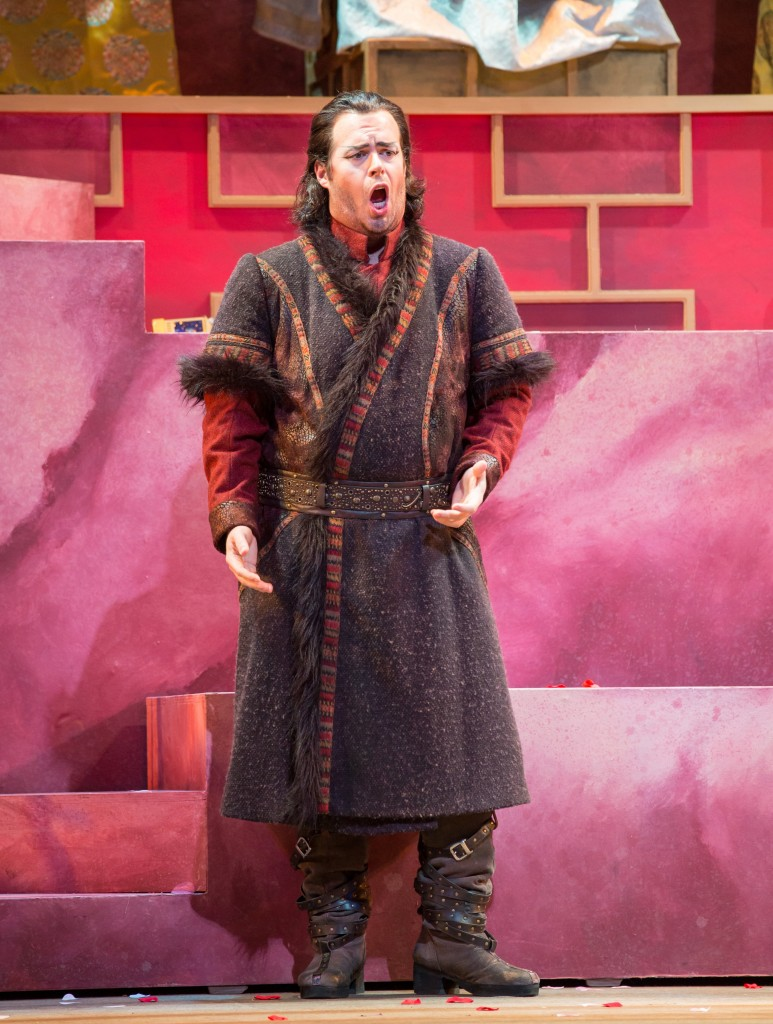 Tenor Jonathan Burton as Calaf.  Photo by Rod Millington and Sarasota Opera