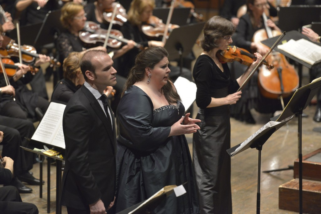 "Eve Queler conducts the Opera Orchestra of New York performing ""I Lombardi all prima crociata"" at Avery Fisher Hall on April 8, 2013. The cast: Kevin Short, Pagano Noah Beatge, Arvino Angela Meade, Giselda Elizabeth Baldwin, Viclinda Brandon Cedel, Pirro Adam Bonanni_Priore Tom McNichols, Acciano Michael Fabiano, Oronte Courtney Johnson, Sofia Credit:  Stephanie Berger.  All Rights Reserved. Photo Credit:  ©Stephanie Berger."