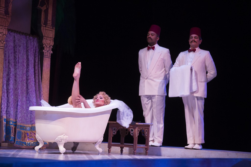 Isabella (Sandra Piqued Eddy) takes a bath, photo by Jeff Roffman