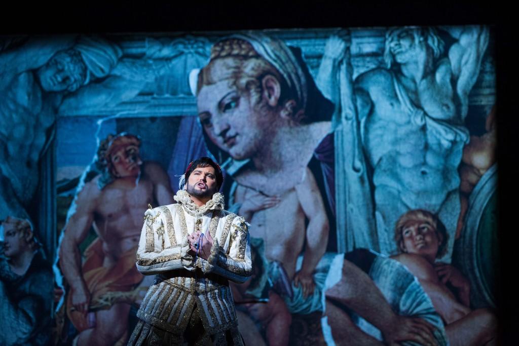 Scott Quinn as the Duke of Mantua. Photo by Jeff Roffman