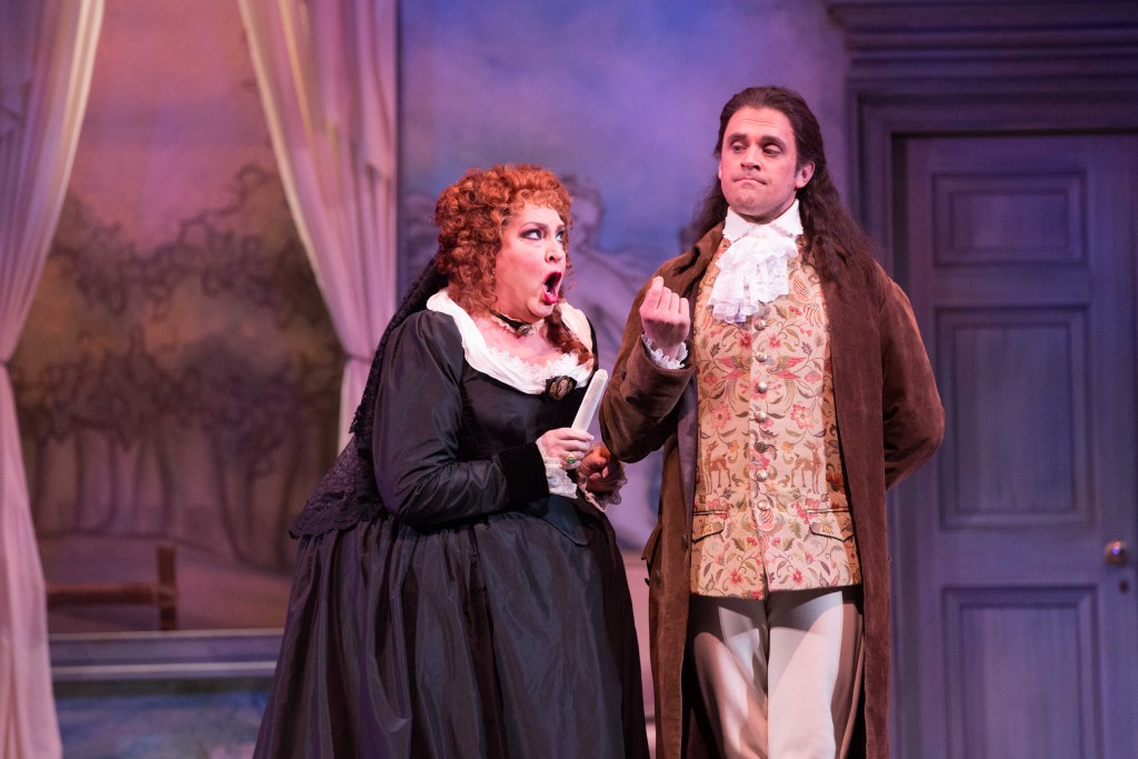 Victoria Livengood (Marcellina) and John Moore (The Count Almaviva), Photo credit: Jeff Roffman