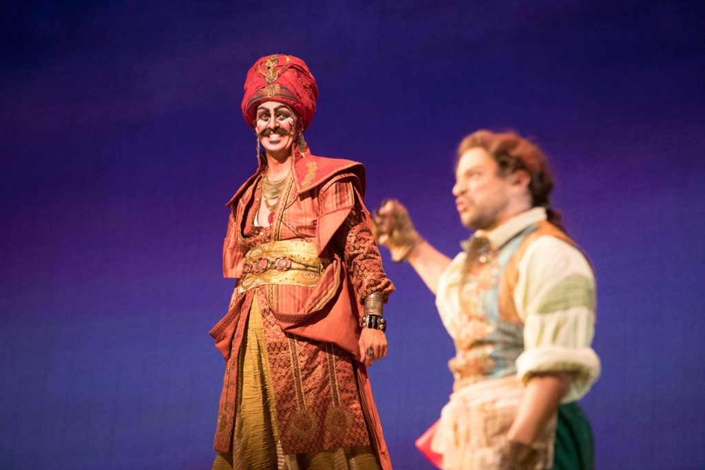 Kevin Burdette (Osmin) and Matthew Grills (Pedrillo). Photo by Jeff Roffman